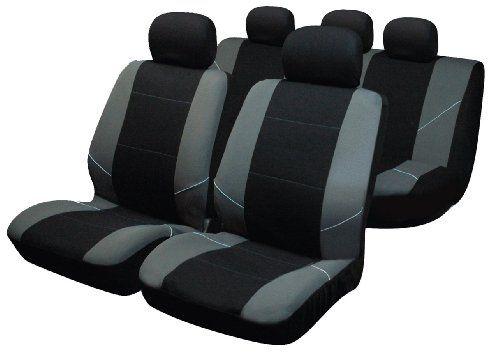 Sakura BY0802 – Juego de fundas para asientos de coche, color plateado