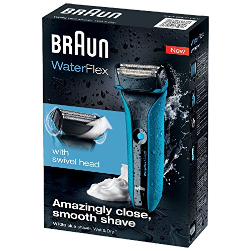 Braun WaterFlex WF2s - Afeitadora eléctrica recargable inalámbrica,