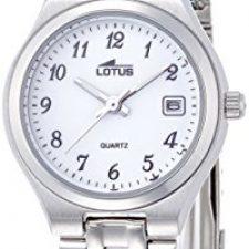 Lotus–Reloj de pulsera analógico para mujer cuarzo acero Relojes