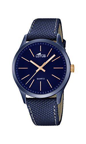 Lotus 18166/2 – Reloj de pulsera hombre, color Azul Relojes