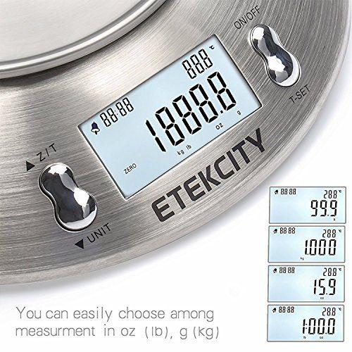 Etekcity EK4150 Báscula Digital para Cocina con Tazón Removible , 11