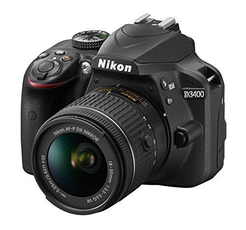 Nikon D3400Cámara réflex digital con objetivo Nikkor AF-P 18/55vr,