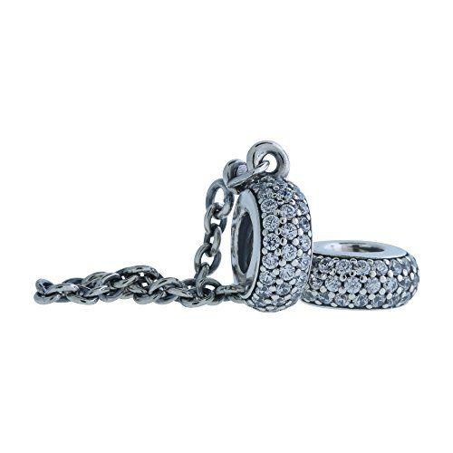 Pandora Cadena de mujer con colgante plata de ley 925circonita Joyería y Bisutería
