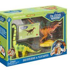 Geoworld – Velociraptor y Brachiosaurus, fguras (DeQUBE Trading S.L. Juguetes educativos