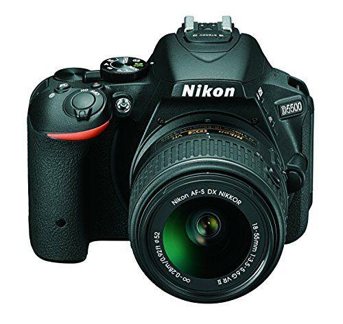 Nikon D5500 – Cámara digital Reflex de 24.2 MP, color negro – Kit con