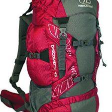 Highlander Discovery RUC180-RD – Mochila de senderismo, Rojo/ Gris, 45 Macutos y mochilas