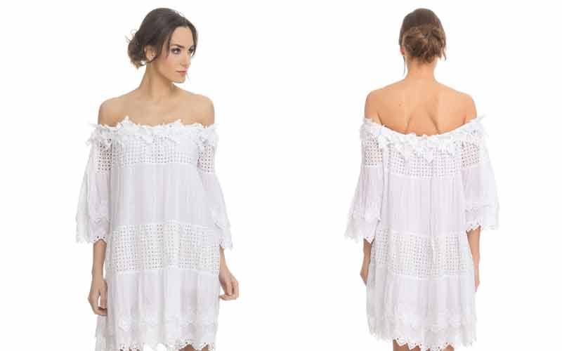Vestido de mujer Tantra de encaje con bordados