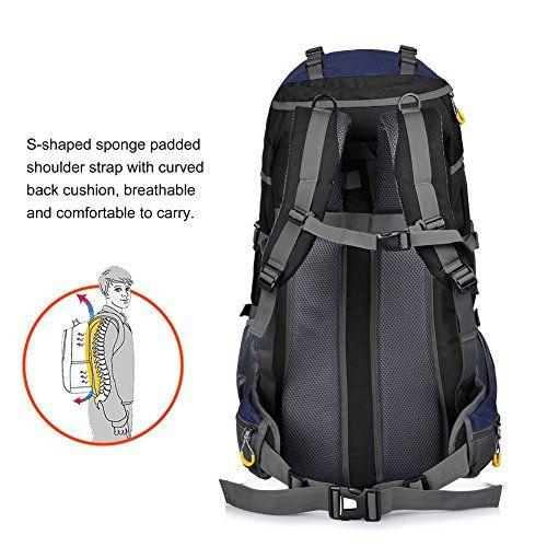 Vbiger Mochilas Impermeable 65+5L per Alpinista Senderismo Viajes