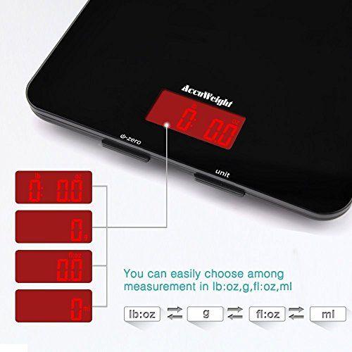 Accuweight Báscula Digital para Cocina de Alta Medición Precisa,