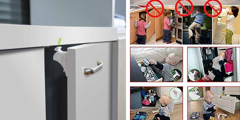 Cierres de seguridad para puertas y cajones smartshoppers - Seguro para puertas bebe ...