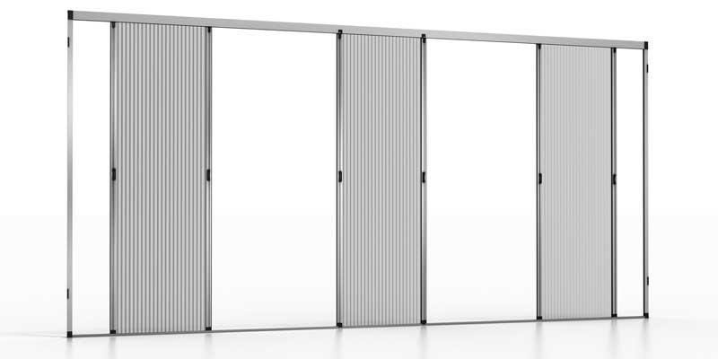 Mosquitera plisada en aluminio para puertas
