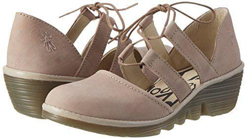 Fly London P500532019, Zapatos de Cuñas Mujer, Gris