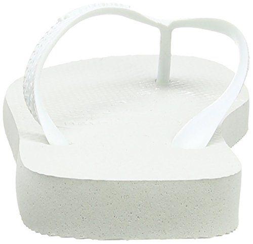 Havaianas Top, Chanclas Unisex Adulto, Blanco (White 0001), 39/40 EU