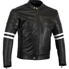 Bikers Gear UK chaqueta moto Cafe Racer en color negro envejecido Ropa para motoristas