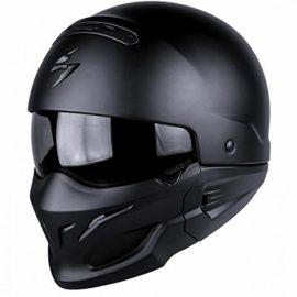 SCORPION Exo combate negro mate casco de moto