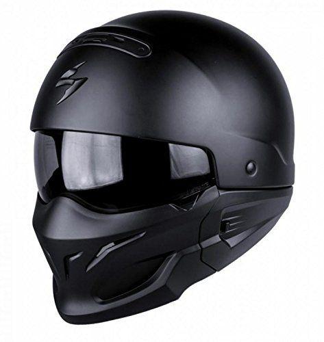 SCORPION Exo combate negro mate casco de moto Ropa para motoristas