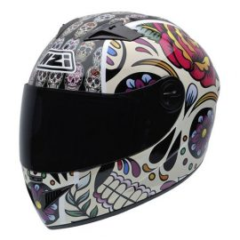 NZI 050264G582 Vital Mexican Skulls Casco de Moto, Diseño Calaveras