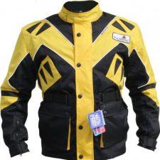German Wear Textiles chaqueta para motorista Chaqueta, Negro/Amarillo Ropa para motoristas
