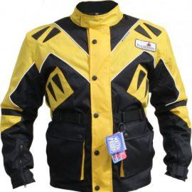 German Wear Textiles chaqueta para motorista Chaqueta, Negro/Amarillo