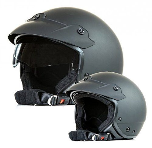 Protectwear Casco de Moto Jet con Visera Solar Integrada