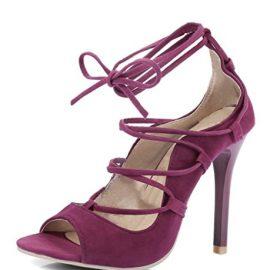 Minetom Mujer Verano Zapatos de Cordones Gladiator Lace-up Sandals