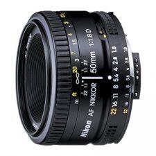 Nikon AF Nikkor 50mm – Objetivo para Nikon (distancia focal fija 50 Objetivos para Cámaras