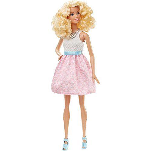 Barbie Fashionistas – Muñeca, rosa colorete (Mattel DGY57) Barbie