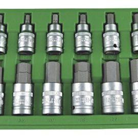 JBM 51260 – Pack de 12 piezas de punta hexagonal (1/2″)