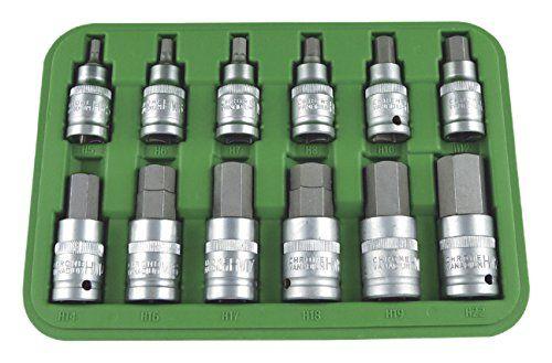JBM 51260 – Pack de 12 piezas de punta hexagonal (1/2″) Bricolaje y herramientas