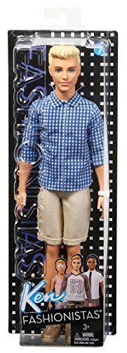 Barbie – Muñeco Ken Fashionistas Cuadros Preppy (Mattel FNH39)