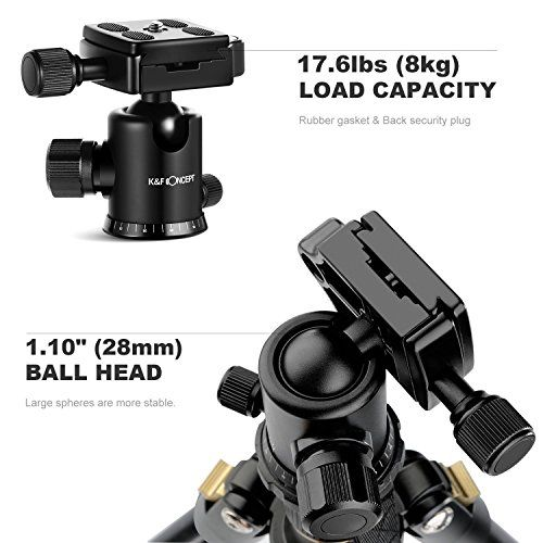 Trípode Completo – K&F Concept TM2324 Trípode Flexible para Cámara