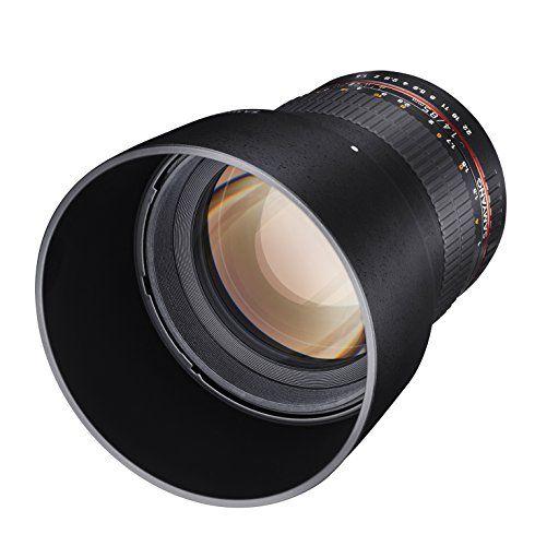 Samyang 881702 - Objetivo para Sony-E (diámetro: 85 mm, F1.4) negro