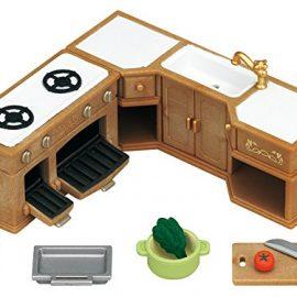 Sylvanian Families – Set horno, fregadero, y encimera cocina (Epoch