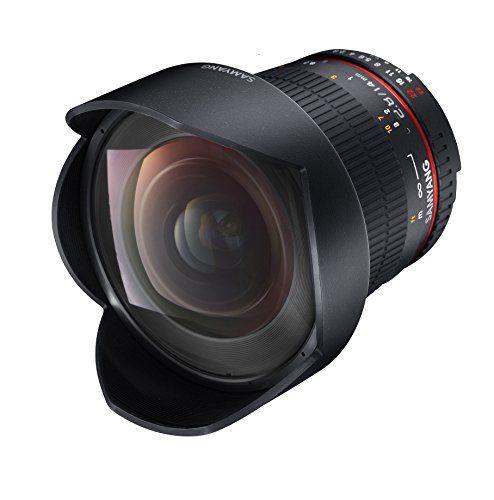 Samyang AE 14 mm IF ED UMC - Objectivo para Nikon, color negro