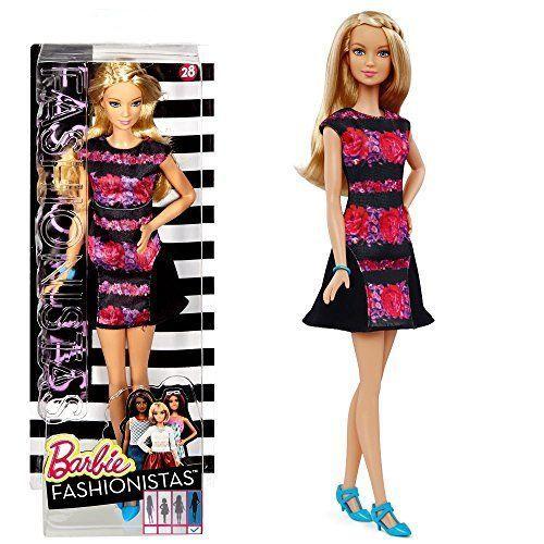 Barbie – Fashionistas 28 – Tall – Muñeca en en Vestido Floral Negro Barbie