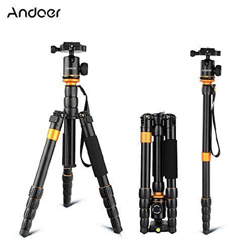 Andoer® Profesional Ajustable Trípode Monópode Monopod con Cabeza