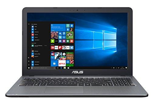"""ASUS D540SA-XX620T - Ordenador portátil de 15.6"""" (Intel Celeron N3060, 4 GB de RAM, HDD de 500 GB, Intel HD Graphics 400, Windows 10 Original), plata gradiente - Teclado QWERTY Español"""