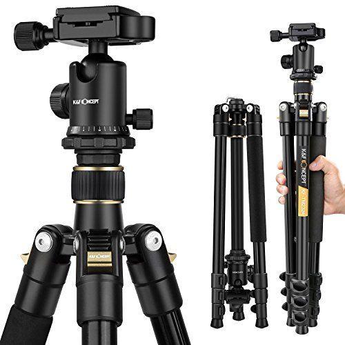 Trípode Completo – K&F Concept TM2324 Trípode Flexible para Cámara Accesorios Fotografía