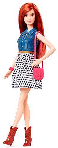 Barbie Fashionista CJY41 - Teresa Doll Jean Shirt and Black and White