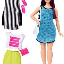 Barbie – Muñeca fashionista, loca por el azul (Mattel DTF01) Barbie
