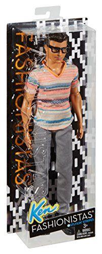 MATTEL Barbie dmf41–Mode muñeca, Fashionistas amigo con gafas