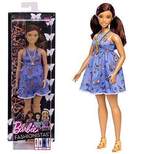 Barbie – Fashionistas 66 – Curvy – Muñeca con Vestido de Mariposa Barbie