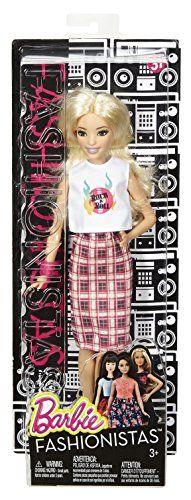 Barbie Fashionistas - Muñeca, roquera a cuadros (Mattel DPX67)