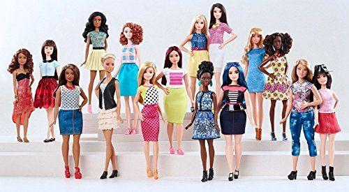 Barbie Fashionistas - Muñeca, rosa colorete (Mattel DGY57)