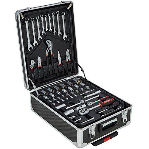 TecTake Juego de herramientas (616partes) Trolley Maleta aluminio