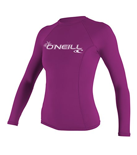 O 'Neill Wetsuits Mujer Protección UV WMS Basic MusicSkins L/S Crew rosa...