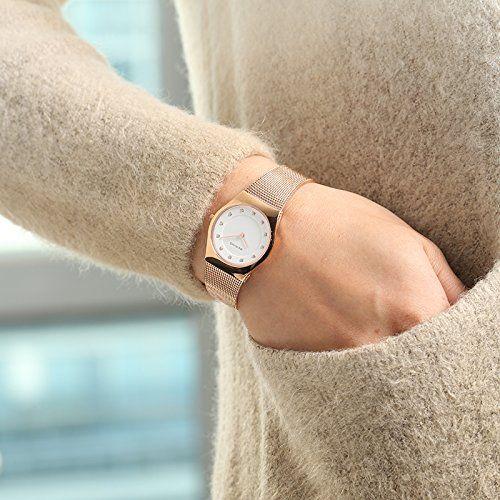 Bering Time  0 - Reloj de cuarzo para mujer, con correa de acero