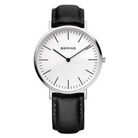 Bering Time  Classic – Reloj de cuarzo para hombre, con correa de cuero