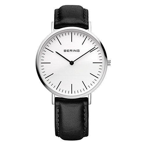 Bering Time  Classic - Reloj de cuarzo para hombre, con correa de cuero