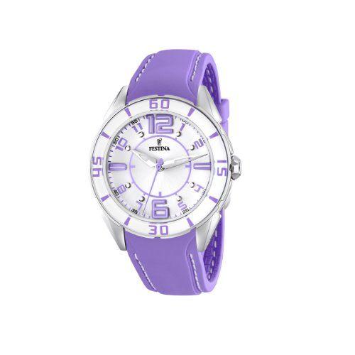 FESTINA F16492/4 - Reloj de mujer de cuarzo, correa de plástico color